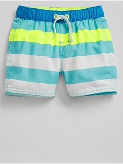 Stripe Swim Trunks