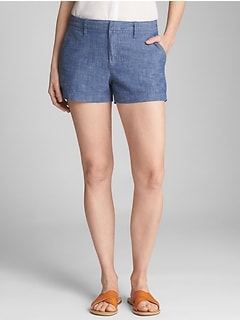"3"" City Shorts in Chambray"