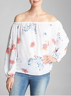 Print Off-Shoulder Top
