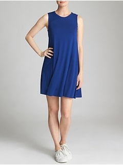 Open-Back Tank Dress in Jersey