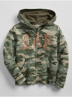 Camo Logo Hoodie in French Terry