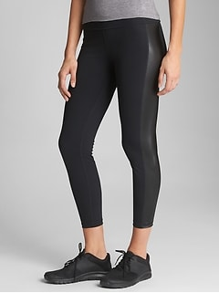 GapFit gFast Blackout High Rise Side Stripe Leggings