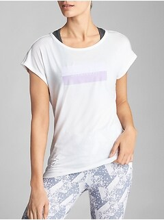 GapFit Open-Back Graphic T-Shirt