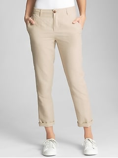 Girlfriend Chinos in Linen