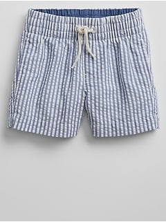 "3"" Pull-On Shorts in Seersucker"