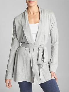 Open-Front Cardigan in Jersey