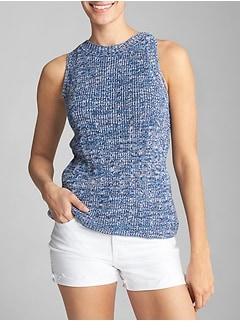 Textured Tank Top Sweater