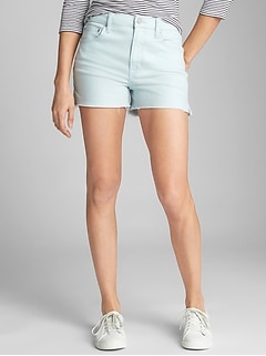 "High Rise 3"" Denim Shorts"