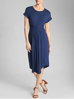 Short-Sleeve Wrap Dress