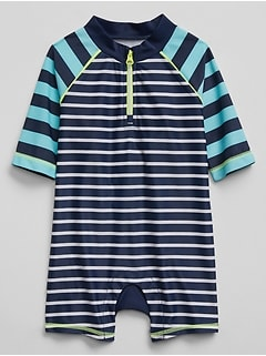 Stripe Shorty Rashguard One-Piece