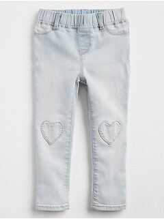 Heart Pull-On Jeggings in Stretch
