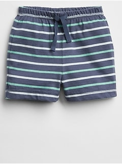 Stripe Pull-On Short in Jersey