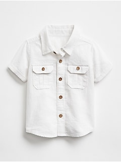 Short-Sleeve Shirt in Linen