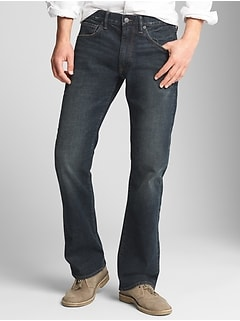 Boot Cut Leg Jeans with GapFlex