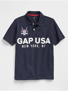 Logo Graphic Polo in Slub