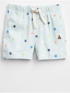 Star Pull-On Shorts in Jersey