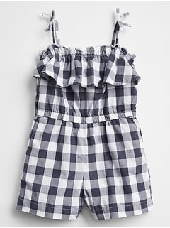 Plaid Romper in Weave