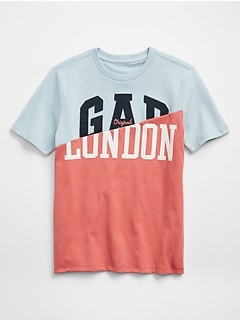 Logo Global Remix Spliced Graphic T-Shirt