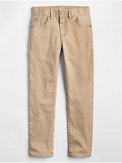 Slim Khakis in High Stretch