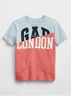 Logo Global Remix Spliced Graphic Short Sleeve T-Shirt