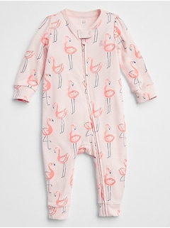 Flamingo Zip One-Piece