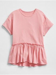 Peplum T-Shirt in Jersey