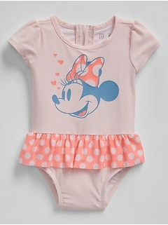 babyGap &#124 Disney Minnie Mouse Swim One-Piece