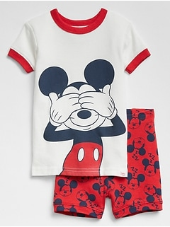 babyGap &#124 Disney Mickey Mouse Short Sleep Set