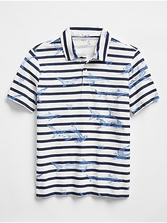 Sea Creature Stripe Polo Shirt