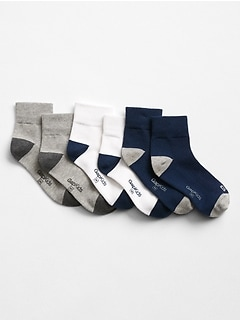 Logo Quarter Crew Socks (3-Pack)