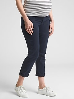 Maternity Inset Panel Khakis