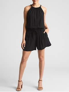 Braided Tank Romper in Rayon