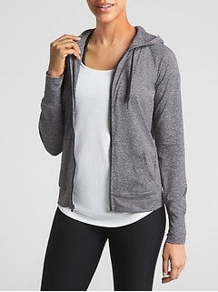 GapFit Tunic Hoodie in Brushed Jersey