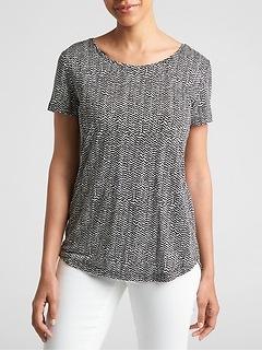 Luxe Print Short Sleeve T-Shirt