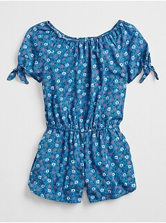 Print Off-Shoulder Romper