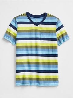 Stripe V-Neck T-Shirt