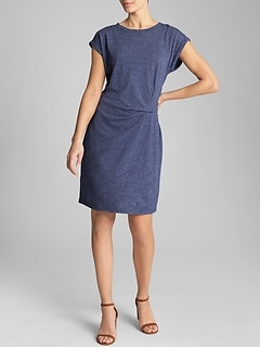Gathered-Waist Dress in Jersey