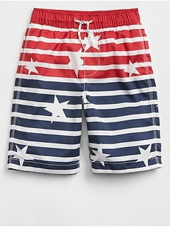"8"" Stars & Stripes Swim Trunks"