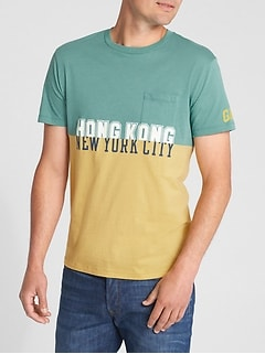 Colorblock Graphic T-Shirt