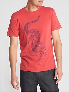 Dragon Graphic Crewneck T-Shirt