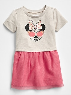 babyGap &#124 Disney Minnie Mouse Mix-Fabric Dress