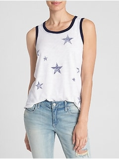 Easy Graphic Swing Tank Top