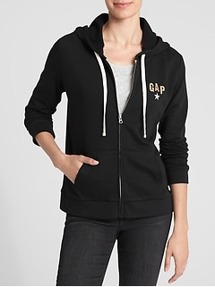 Logo Graphic Zip Hoodie in Fleece