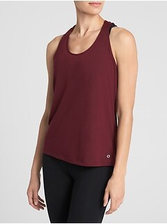 GapFit Gathered-Back Tank Top