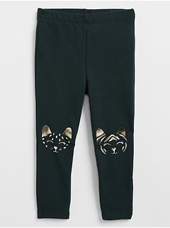Graphic Leggings in French Terry