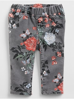 Superdenim Crop Print Favorite Jeggings with Fantastiflex