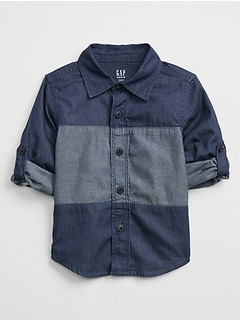 Colorblock Shirt in Twill