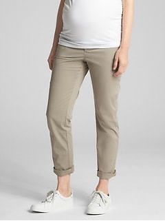 Maternity Demi Panel Girlfriend Khakis