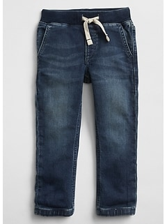 Pull-On Denim Joggers