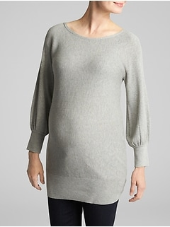 Maternity Balloon Sleeve Tunic Sweater